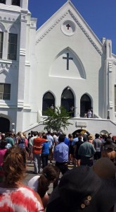 Services outside Mother Emanuel June 21 2015 by Beth Summers