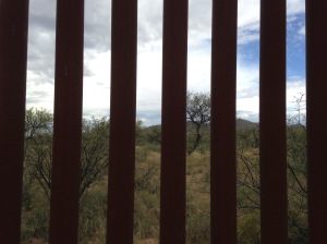 border wall looking to Mexico